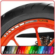 KTM 250 DUKE wheel rim stickers decals - choice of 20 colours -