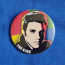 Elvis Presley, The King - traditional Button Badge - 58mm diameter
