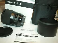 Sigma 135mm F1.8 ART DG HSM NEW PRIME TELE Lens for SONY E CAMERA in FACTORY BOX