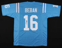 Gary Beban Signed UCLA Bruins XL Blue Football Jersey Heisman JSA COA Autograph