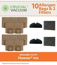 Replacements 10 Hoover R30 Bags and 4 Filters Part # 40101002