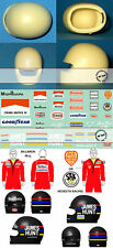 1/20 JAMES HUNT BELL STAR HELMET + FULL DRIVER DECAL McLAREN M23 HESKETH