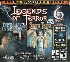 TWISTED LANDS INSOMNIAC + SACRA TERRA Hidden Object 6 PACK PC Game DVD NEW