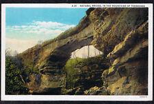 NATURAL BRIDGE TENNESSEE POSTCARD LINEN MOUNTAINS OF TENNESSEE TN CT AmericanArt
