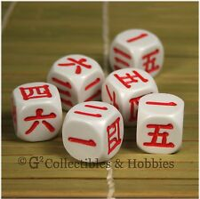 NEW 6 Japanese KANJI Numbers Dice Set D&D RPG 6 Sided Koplow Language D6