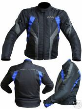 Giacca Moto in Cordura JF-Pelle Black/Blue mod. 3106