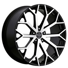 "(4pcs) 22"" Versante Wheels VE229 Black Machined Rims"