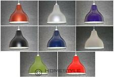 Metal 10in 25cm Cafe Round Ceiling Light Lamp Shade Retro Lampshade 8 Colours