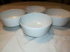 """Set of 4 Corning Centura White 2 1/2"""" x 5 1/2"""" Bowls Excellent Condition"""
