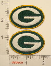 2 GREEN BAY PACKERS Patches Wisconsin Football Team Logo Emblem PATCH