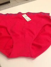 Femina Lingerie Queen Size Seamless Briefs Panty Bright Pink Nylon & Spandex NWT