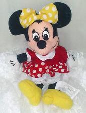 "Disney Minnie Mouse Plush 9"" Bean Bag Doll - Hair Bow Doesn't Match Dress"
