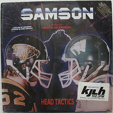 SAMSON Head Tactics 1986 US SEALED Promo LP BRUCE DICKINSON Iron Maiden METAL