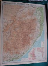 1922 LARGE ANTIQUE MAP- CAPE PROVINCE, TRANSVAAL, EASTERN SECTION