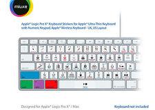 Apple Logic Pro X Keyboard Stickers | Mac | QWERTY UK, US
