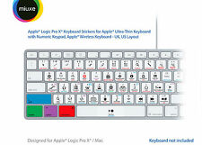 Pegatinas Teclado Apple Logic Pro X | Mac | QWERTY Reino Unido, EE. UU.