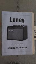 Laney LA30C LA65C guitar amp acoustic amplifier owner user manual 5 pages