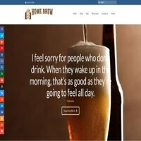 Fully Stocked Dropshipping HOME BREWING Website Business For Sale + Domain