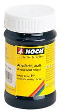 NOCH 61197 Peinture acrylique, mat, noir, Contenu 90ml ( 100ml=