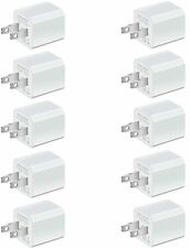 10 X Usb Power Wall Cube 5W/1A Premium Charger Adapter Ac Home Block 1-Port Plug