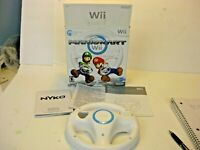 Mario Kart Wii Box w/ Wheel & Manual No Game Nintendo Wii RVL-RMCE-1 Controller