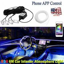 4 In 1 Car Interior Atmosphere Light 6m Neon Strip App Bluetooth Control Rgb Led Fits 2002 Mitsubishi Eclipse