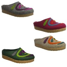Haflinger Grizzly Jette Womens Slippers Mules Sandals Clogs Wool Felt Warm Shoes