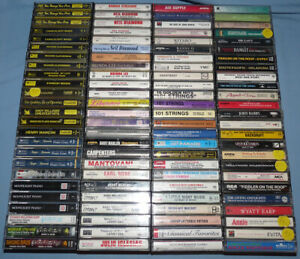 Lot of 100 Soundtracks Musicals Pop Easy Listening Cassettes Neil Diamond
