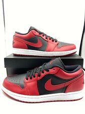 Nike Air Jordan 1 Low Reverse Bred - 553558-606 - FREE SHIPPING