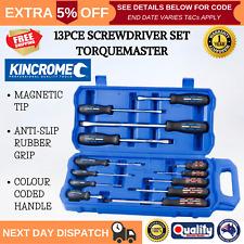 Kincrome S3 13pce Magnetic Tip Torquemaster Screwdriver Set Anti-slip Ergonomic
