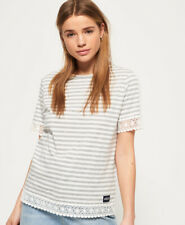 Superdry Womens Pacific Lace Panelled Top