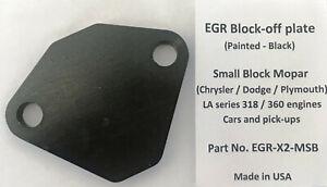 Small block Mopar / Dodge / Plymouth EGR block-off plate 318 360 (black)