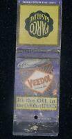 Veedol Motor Oil/PARCO Gasoline 1930s Matchbook Cover