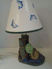 New listing Gone Fishin Trout Fishing Fisherman Table Lamp Crewl Hat Net Figi