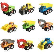 Small Toys Mini Push Car Model Kit Set 9 Pcs Dump Truck Vehicle Construction