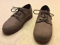 NEW BASS Boys Nubuck Oxford Shoes  Sz 5.5