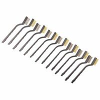 14 Pack Wire Brush Set for Cleaning Welding Slag and Rust Stainless Steel and Br