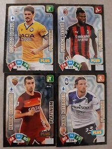 SET 4 CARD PLATINUM PLUS CALCIATORI PANINI ADRENALYN XL 2020/21