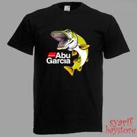 Abu Garcia Big Fish Fishing Logo Men's Black T-Shirt Size S M L XL 2XL 3XL