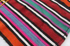 """Vintage Handmade Turkish Stripe Kilim Rug 100""""x65"""""""