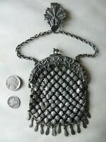 Antique Chatelaine Floral Heart 13 Tassel Belt Clip Fancy Chain Mail Kilt Purse