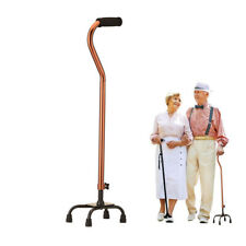 Quad Cane Steel Small Base Bariatric Walking Aid Medical Mobility Adjustable