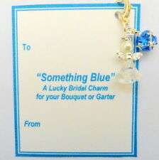 Something Blue Lucky Guardian Angel Bridal Charm to add to Garter or Bouquet