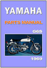 YAMAHA Parts Manual G6S G6-S 1969 1970 Replacement Spares Catalog List FS1
