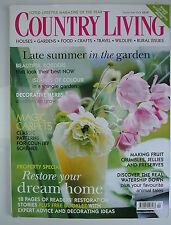 Country Living Magazine. September, 2004. Issue No. 225. Restore your dream home