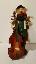 2006 Byers Choice Carolers- Man with Cello & Music Book