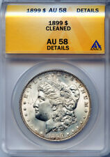 1899 $1 Silver Morgan Dollar AU 58 Details 4160556 Certified + Bonus