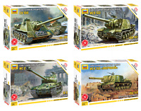 ZVEZDA Soviet Tanks and Armed Forces WWII Plastic Mode Kits 1:72 Snap Fit