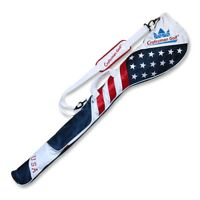 """Craftsman Golf Club Case Sunday Bag US Flag Red White Blue For 6-7 Clubs 49"""""""