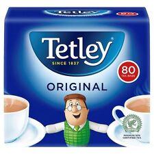 TETLEY ORIGINAL 80 TEA BAGS 250g 80 CUPS HOT DRINKS TRAVEL OFFICE HOME (220999